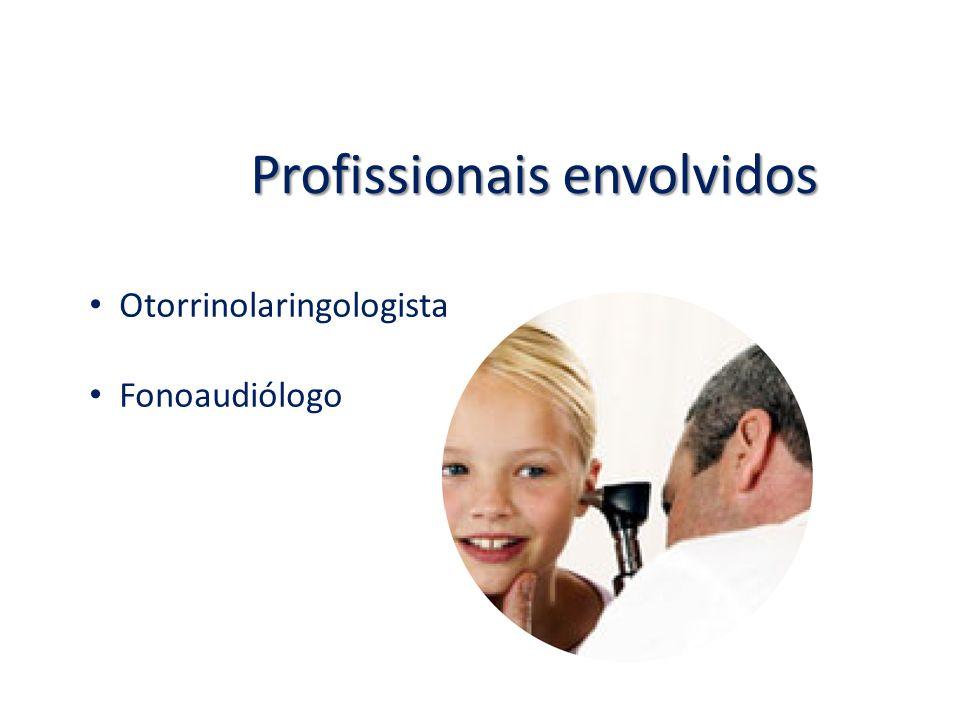 Profissionais envolvidos Otorrinolaringologista Fonoaudiólogo