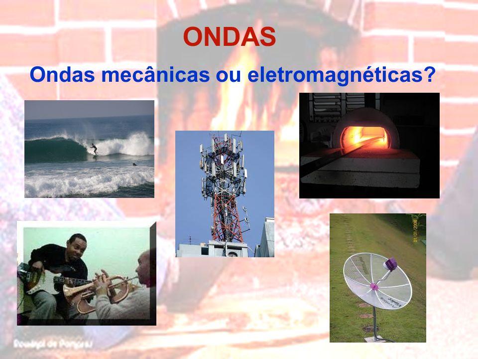 ONDAS Ondas mecânicas ou eletromagnéticas?