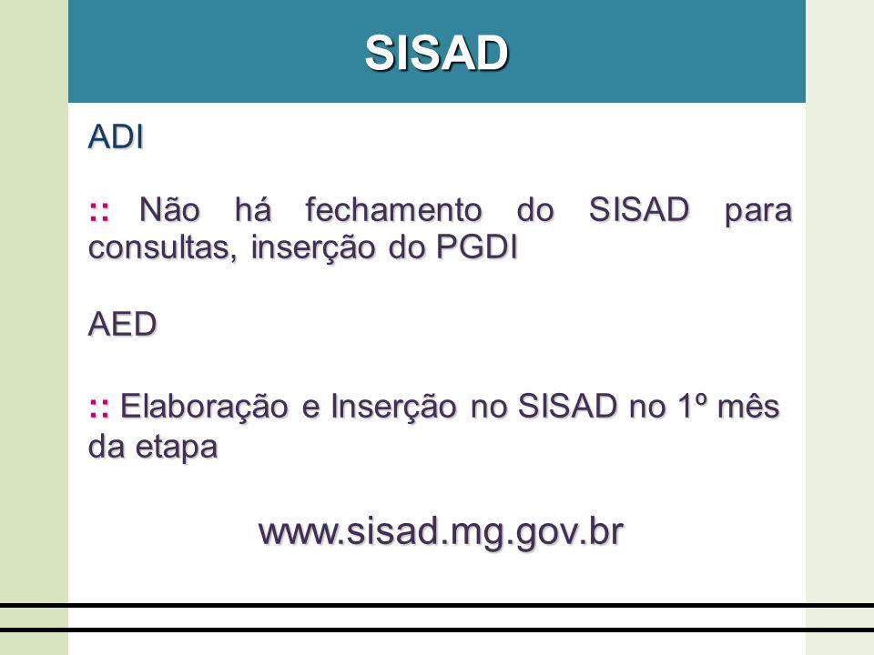 Registro do PGDI no SISAD - 2008 0,65% 44,17% 38,49% 13,34% 1º Tri 2º Tri 3º Tri 4º Tri