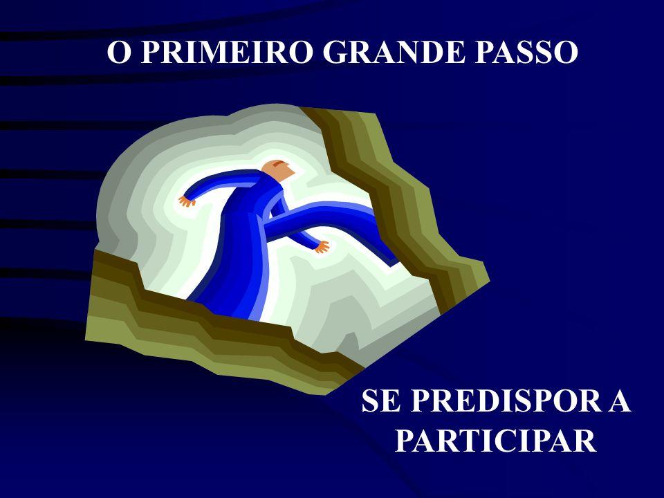O PRIMEIRO GRANDE PASSO SE PREDISPOR A PARTICIPAR