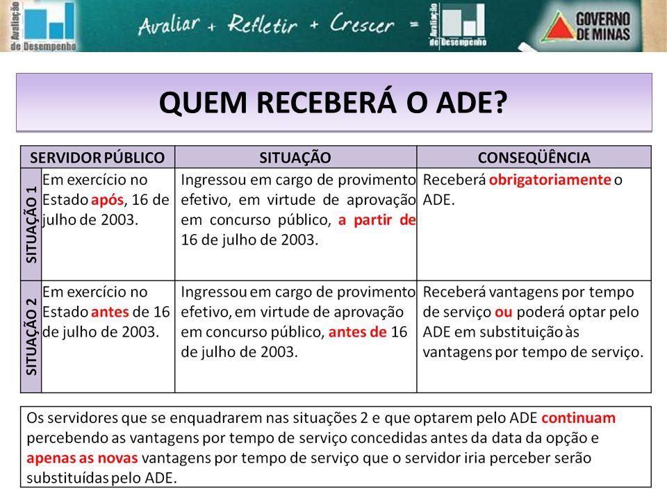 QUEM RECEBERÁ O ADE