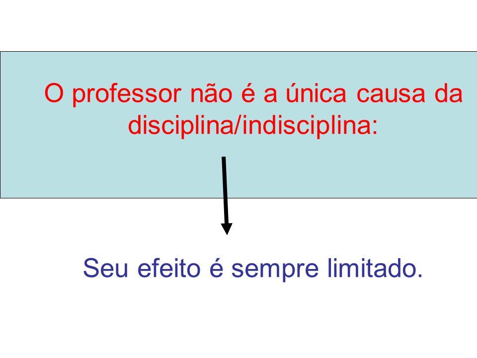 1- Professores com baixo nível de indisciplina 2- Professores com níveis elevados de indisciplina (…) Tem algo especial nela que faz com que os cara senta lá e presta atenção na aula.
