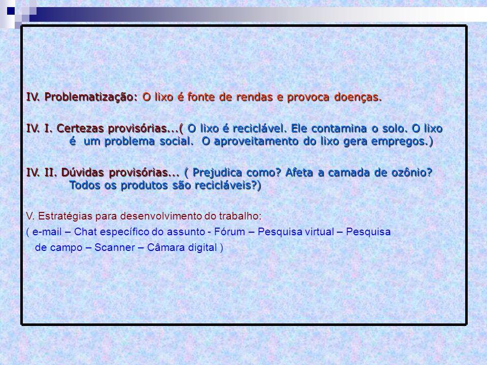 VI.Forma de apresentação: ( Word – Powerpoint – excel – Internet ) VII.