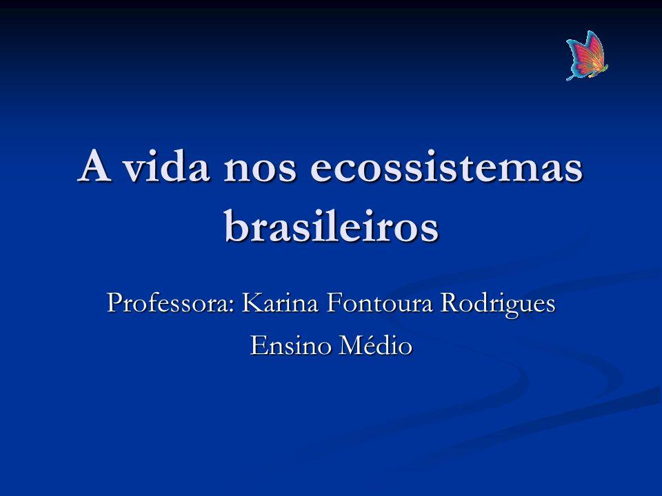 A vida nos ecossistemas brasileiros Professora: Karina Fontoura Rodrigues Ensino Médio
