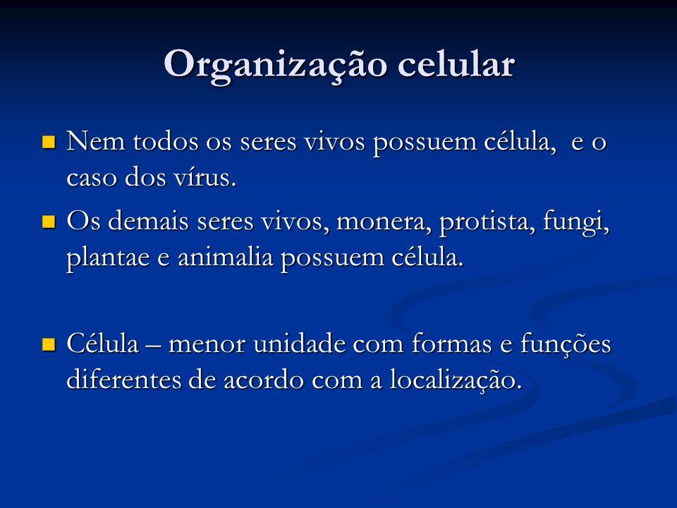 Organização celular Nem todos os seres vivos possuem célula, e o caso dos vírus. Nem todos os seres vivos possuem célula, e o caso dos vírus. Os demai