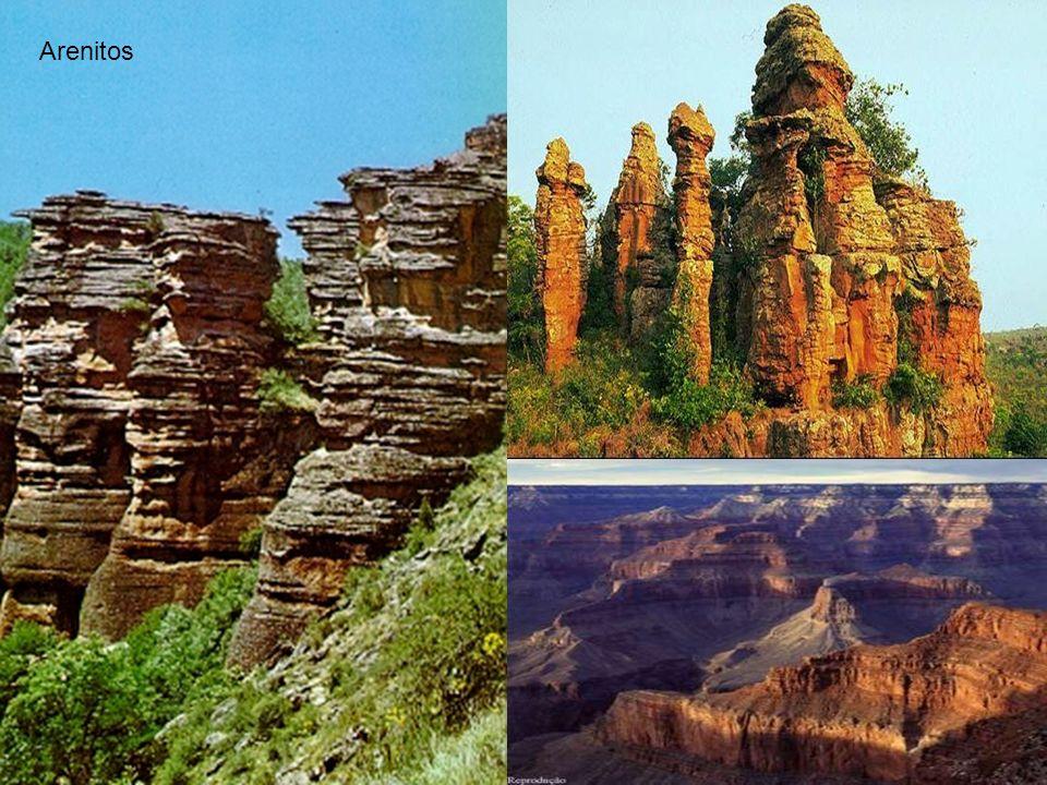 As Rochas Sedimentares são formadas pela deposição mecânica de fragmentos originados de rochas e minerais pré-existentes (sedimentos) assim como por p