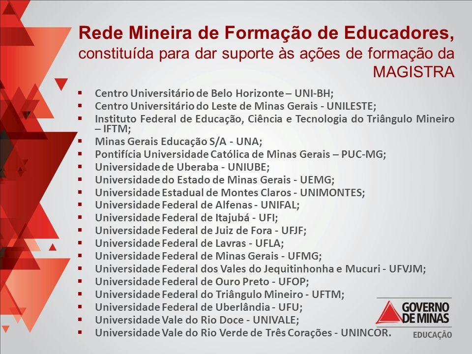 Centro Universitário de Belo Horizonte – UNI-BH; Centro Universitário do Leste de Minas Gerais - UNILESTE; Instituto Federal de Educação, Ciência e Te