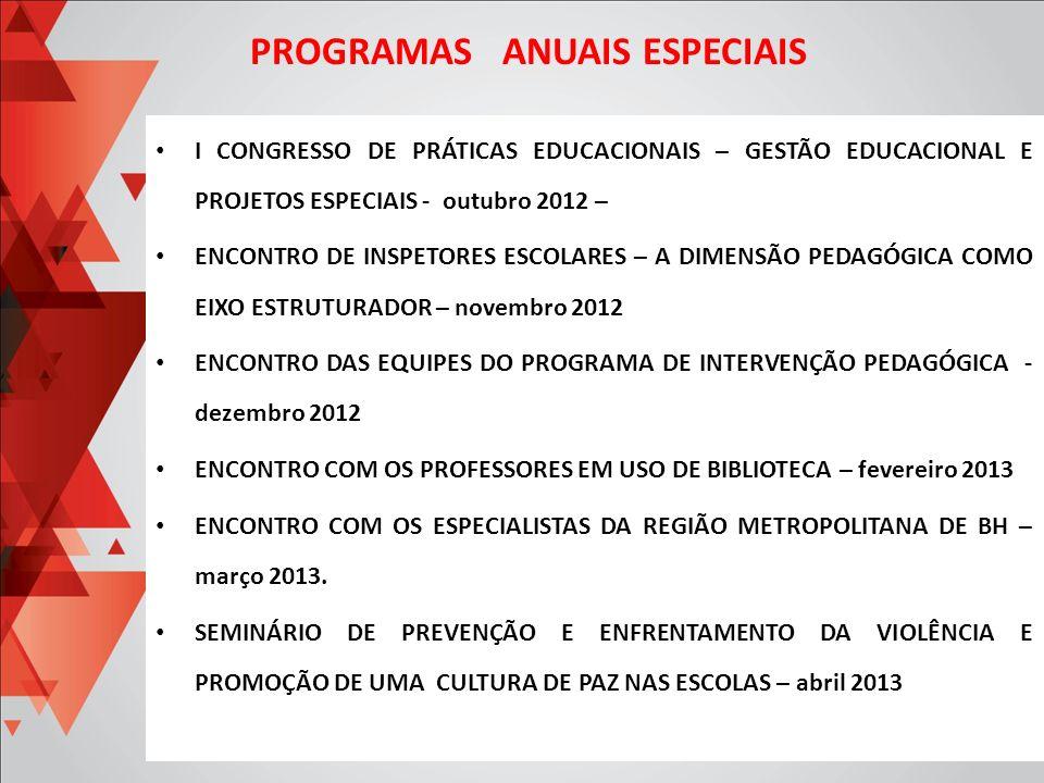 I CONGRESSO DE PRÁTICAS EDUCACIONAIS – GESTÃO EDUCACIONAL E PROJETOS ESPECIAIS - outubro 2012 – ENCONTRO DE INSPETORES ESCOLARES – A DIMENSÃO PEDAGÓGI