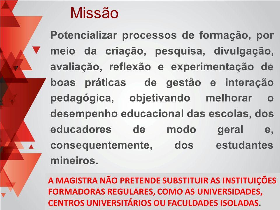 Potencializar processos de formação, por meio da criação, pesquisa, divulgação, avaliação, reflexão e experimentação de boas práticas de gestão e inte