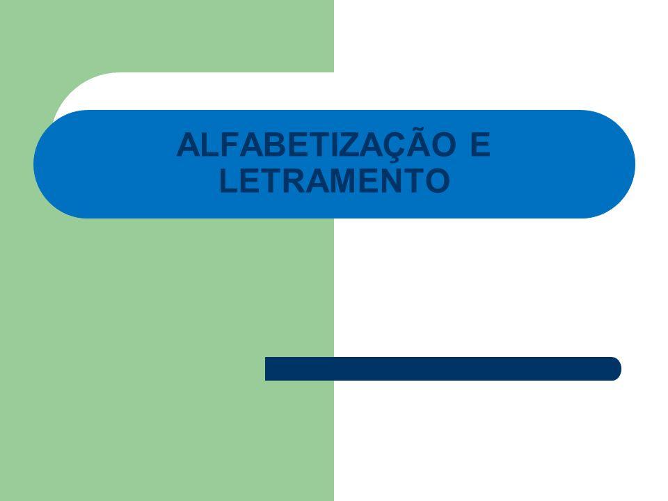Alfabetização e letramento Atividade em grupo: Pergunta para a folha branca: O que é alfabetização.