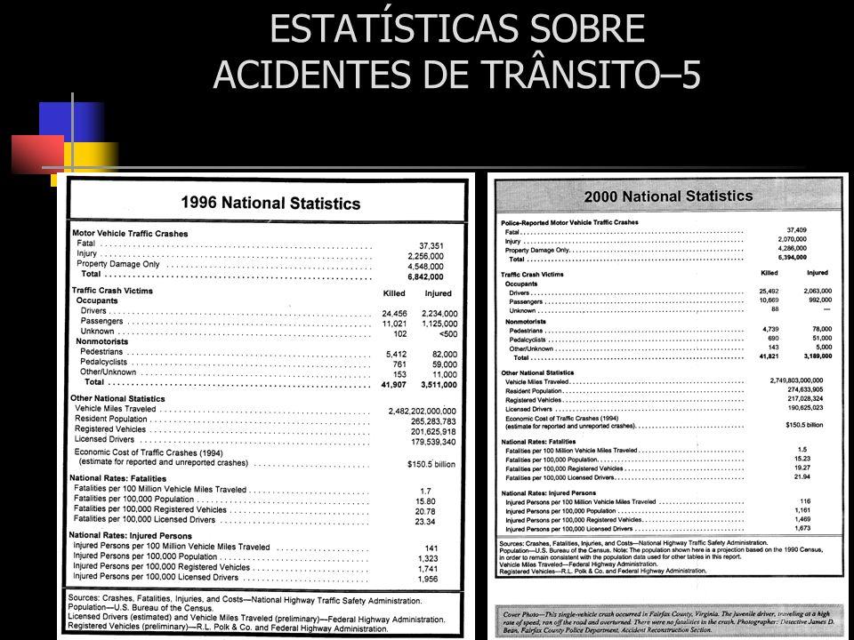 ESTATÍSTICAS SOBRE ACIDENTES DE TRÂNSITO–5