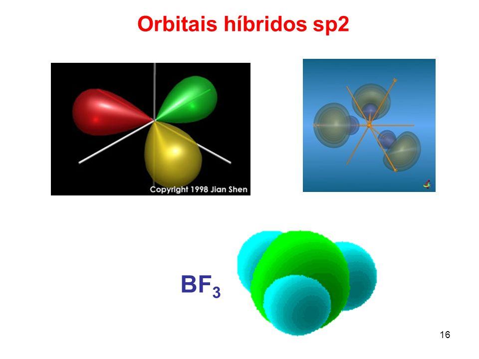 16 Orbitais híbridos sp2 BF 3