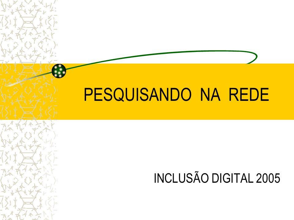 PESQUISANDO NA REDE INCLUSÃO DIGITAL 2005
