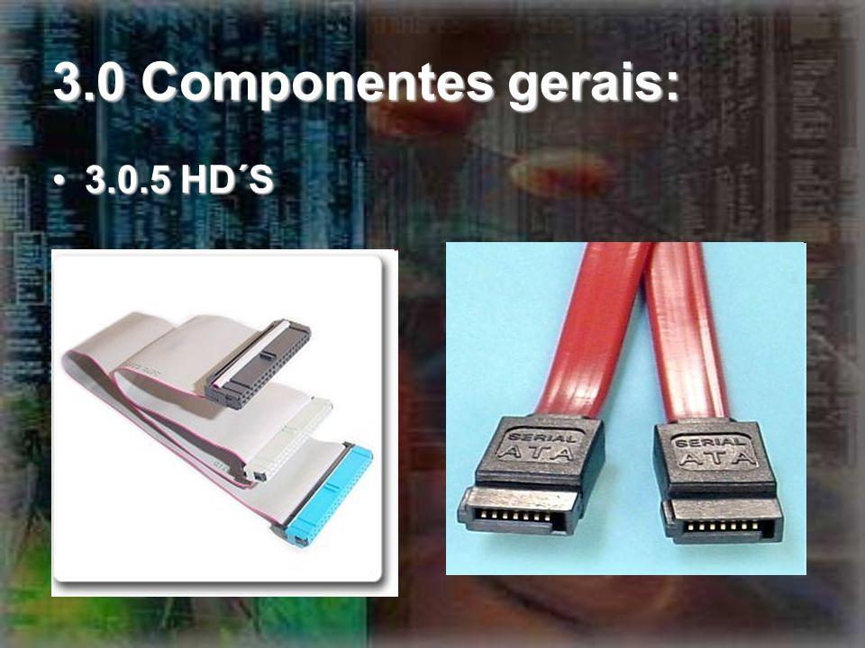 3.0 Componentes gerais: 3.0.5 HD´S3.0.5 HD´S