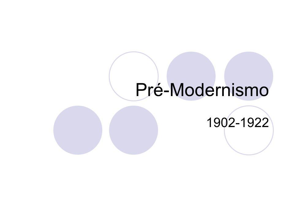 Pré-Modernismo 1902-1922