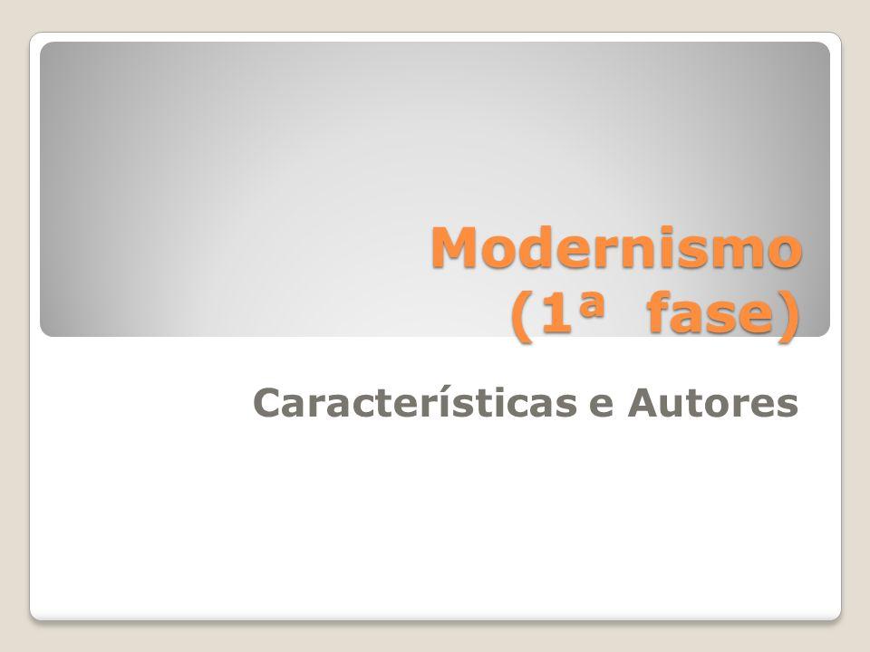 Modernismo (1922-1960) Iniciou-se no Brasil com a SAM de 1922.