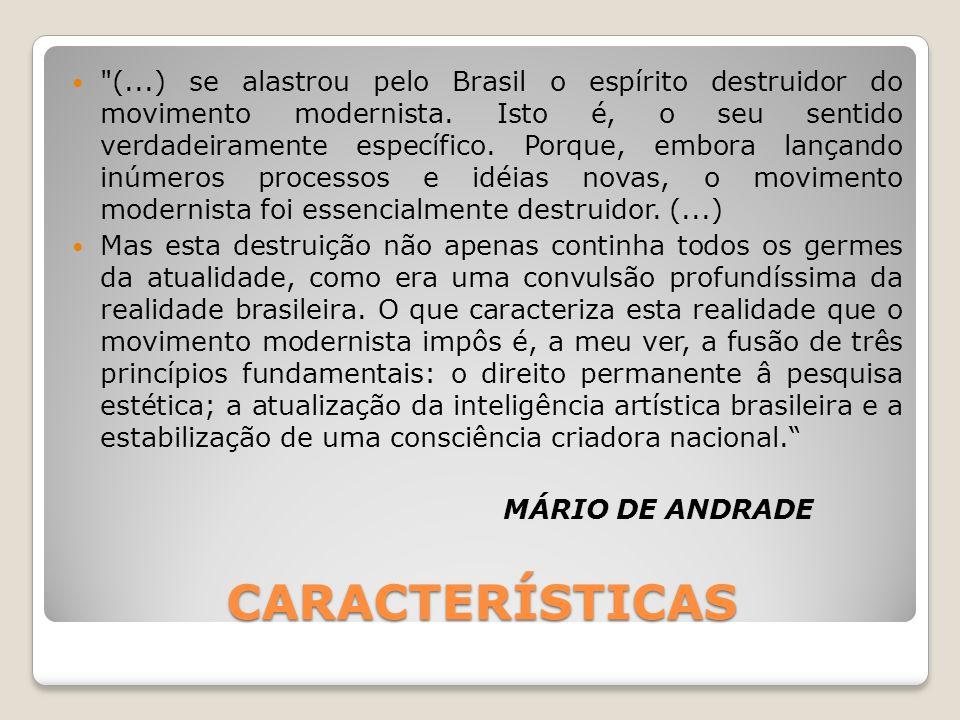 REVISTAS E MANIFESTOS Várias obras, grupos, movimentos, revistas e manifestos ganharam o cenário intelectual brasileiro, numa investigação profunda e por vezes radical de novos conteúdos e de novas formas de expressão.