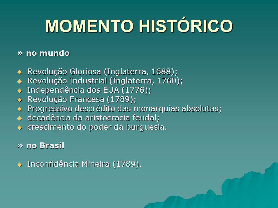 MOMENTO HISTÓRICO » no mundo Revolução Gloriosa (Inglaterra, 1688); Revolução Gloriosa (Inglaterra, 1688); Revolução Industrial (Inglaterra, 1760); Re