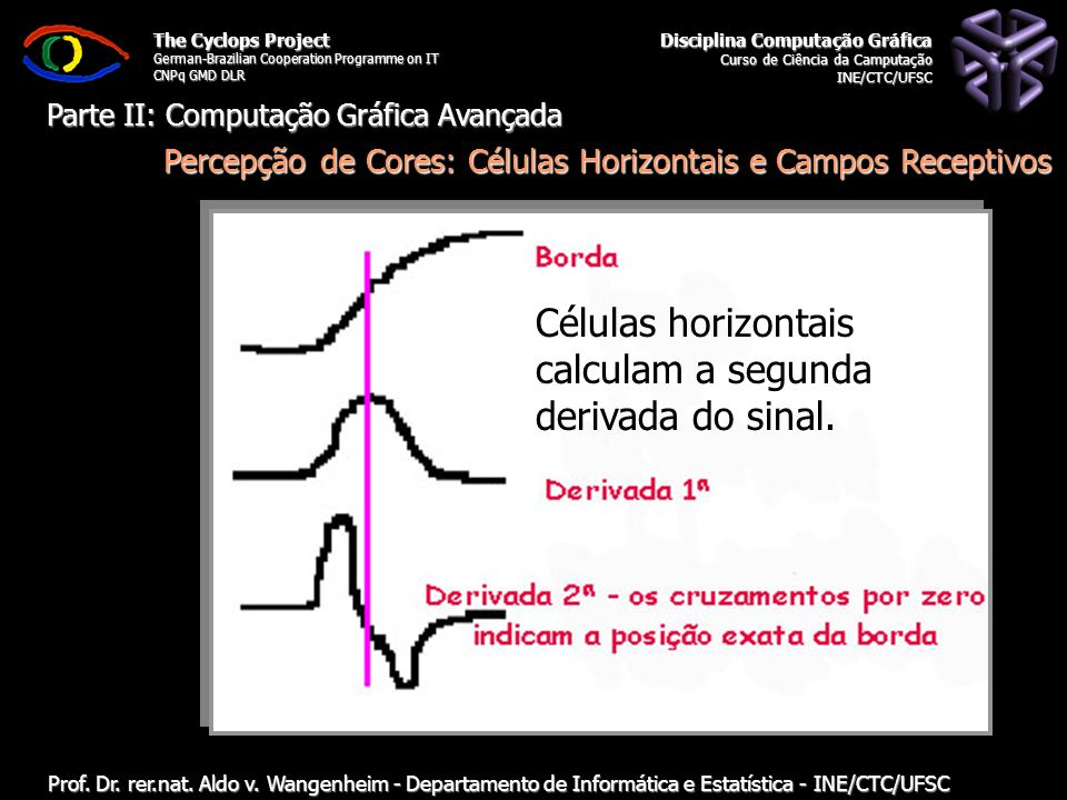 Disciplina Computação Gráfica Curso de Ciência da Camputação INE/CTC/UFSC The Cyclops Project German-Brazilian Cooperation Programme on IT CNPq GMD DL