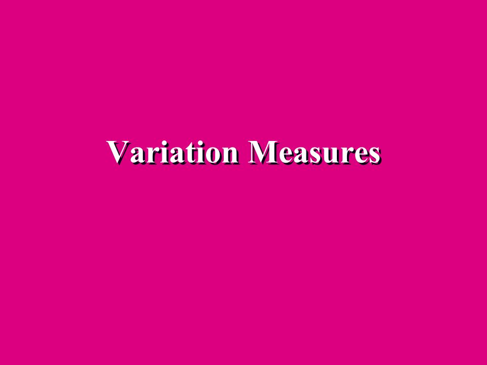 Variation Measures