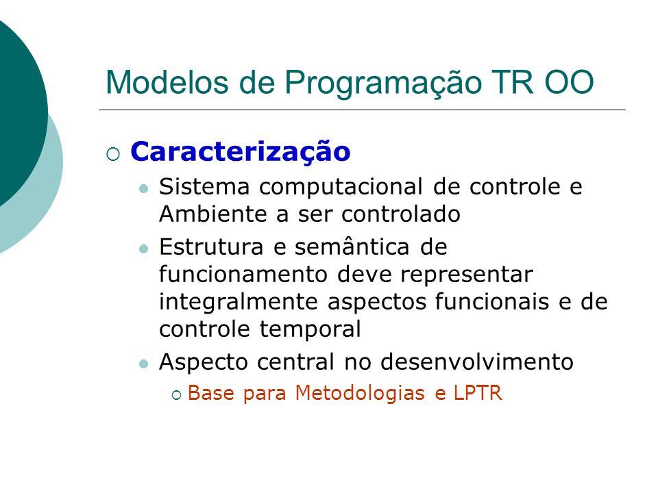 Modelos de Programação TR OO Caracterização Sistema computacional de controle e Ambiente a ser controlado Estrutura e semântica de funcionamento deve
