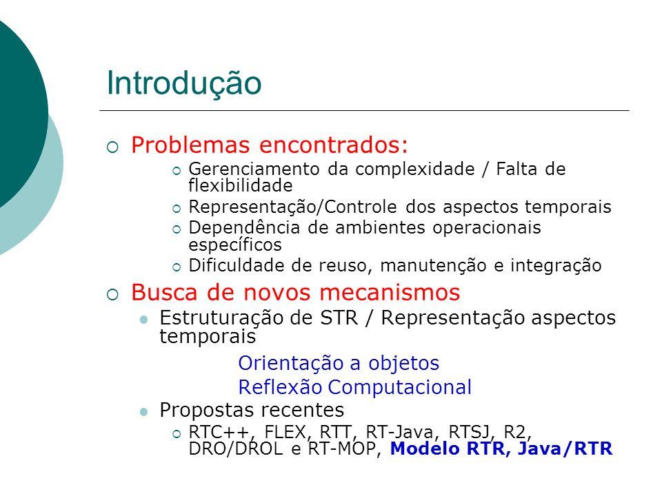 Introdução Problemas encontrados: Gerenciamento da complexidade / Falta de flexibilidade Representação/Controle dos aspectos temporais Dependência de