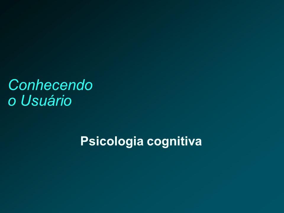 Conhecendo o Usuário Psicologia cognitiva