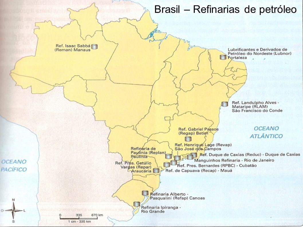 FONTES DE ENERGIA Brasil – Refinarias de petróleo