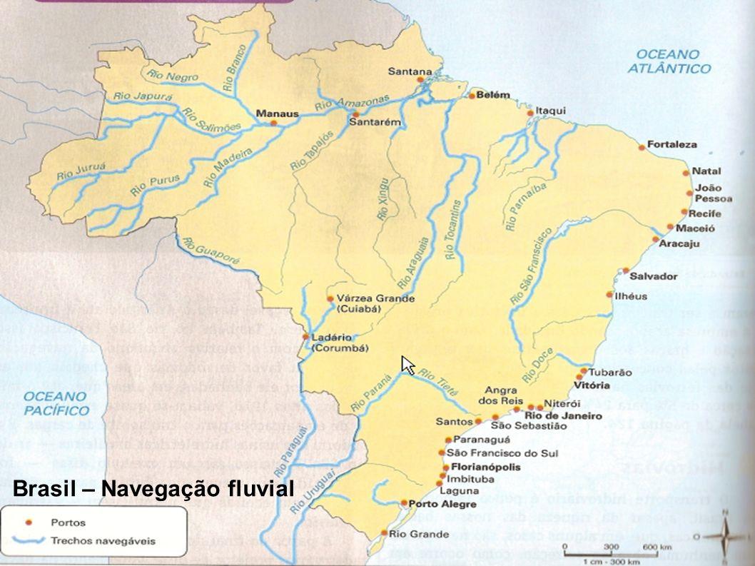 TRANSPORTES Brasil – Navegação fluvial