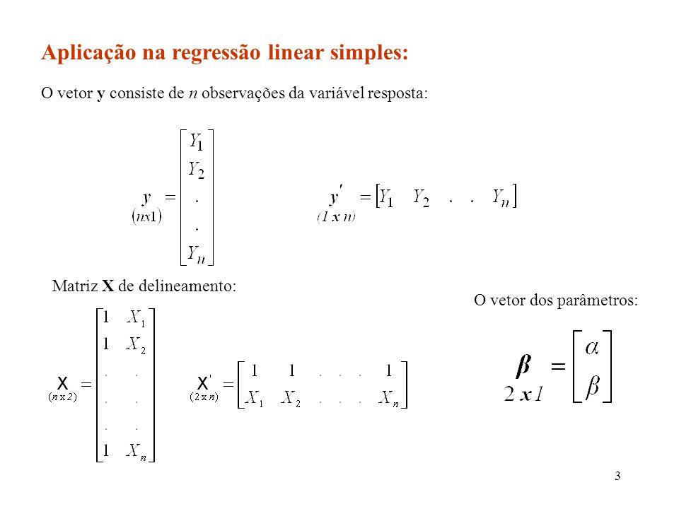 24 Exemplo: Para o experimento sobre acertos e tamanho de cache, a inversa da matriz (X X) com o auxílio de uma planilha eletrônica.