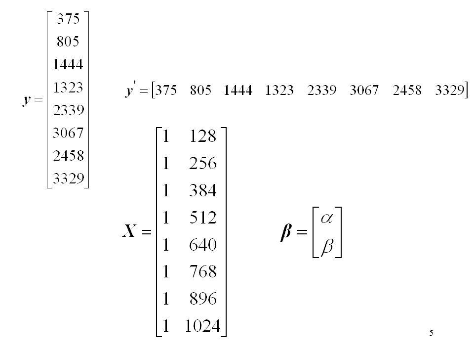 26 Exercício: Usando a abordagem matricial obter os coeficientes de regressão para o exemplo de uma pesquisadora que está estudando a porcentagem de acertos com o tamanho da cache.
