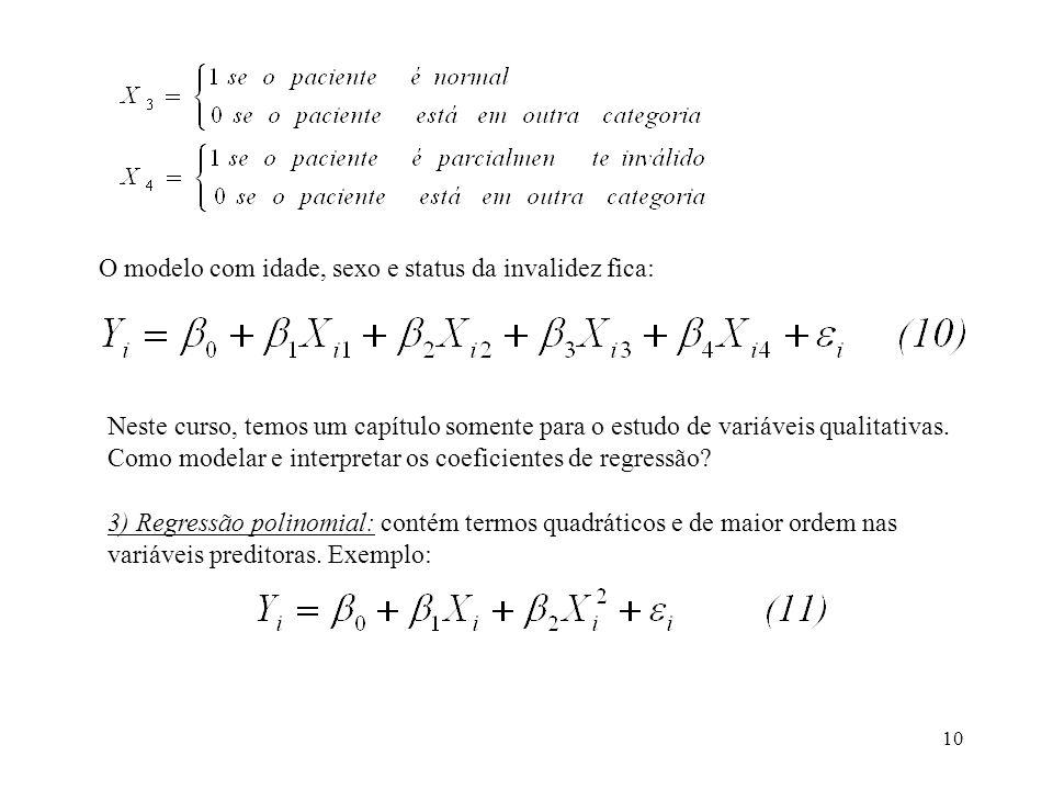 11 O gráfico deste modelo é uma parábola.