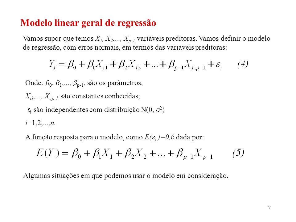 8 1) Temos p-1 variáveis preditoras: todas as variáveis preditoras apresentam efeito aditivo, ou seja, não apresentam um efeito de interação entre elas (o efeito de uma variável preditora não depende dos níveis da outra variável preditora).