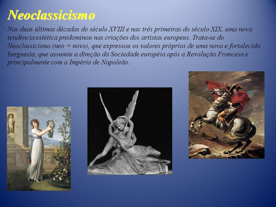 Nas duas últimas décadas do século XVIII e nas três primeiras do século XIX, uma nova tendência estética predominou nas criações dos artistas europeus