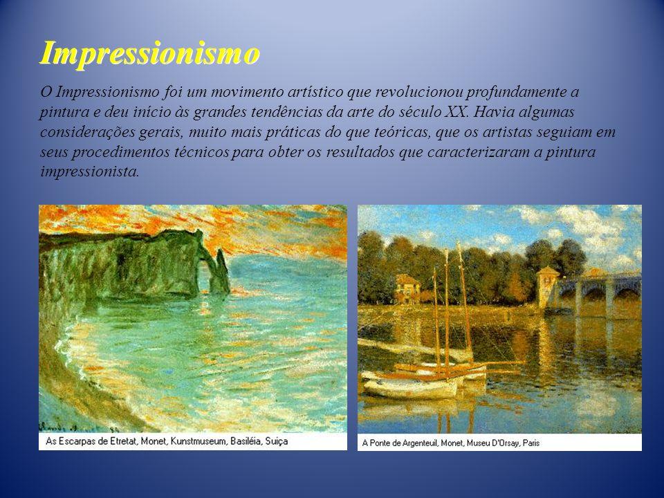 O Impressionismo foi um movimento artístico que revolucionou profundamente a pintura e deu início às grandes tendências da arte do século XX. Havia al