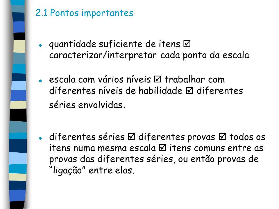 3.Passos para a construção de uma escala 3.1 Definição das séries e disciplinas a serem estudadas.