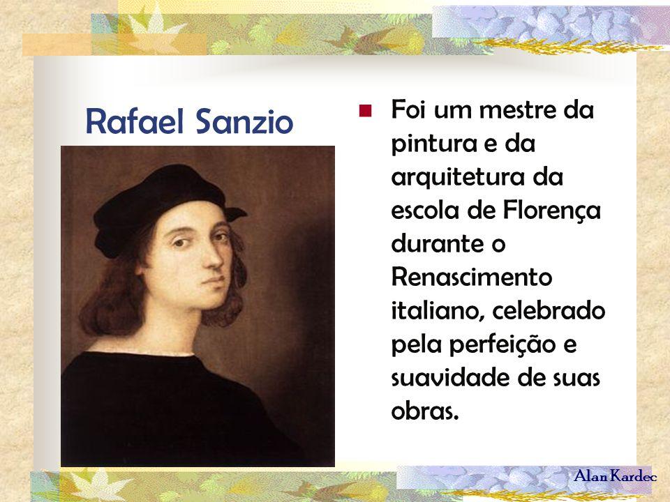 Rafael Sanzio Foi um mestre da pintura e da arquitetura da escola de Florença durante o Renascimento italiano, celebrado pela perfeição e suavidade de