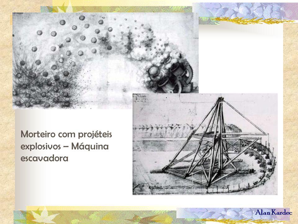 Alan Kardec Morteiro com projéteis explosivos – Máquina escavadora