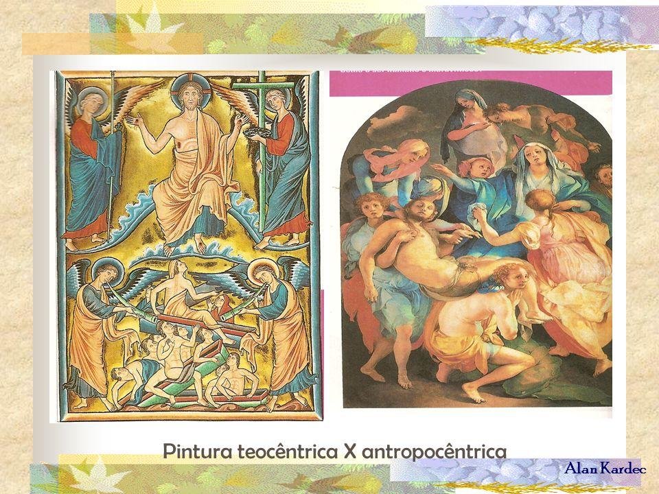 Alan Kardec Pintura teocêntrica X antropocêntrica