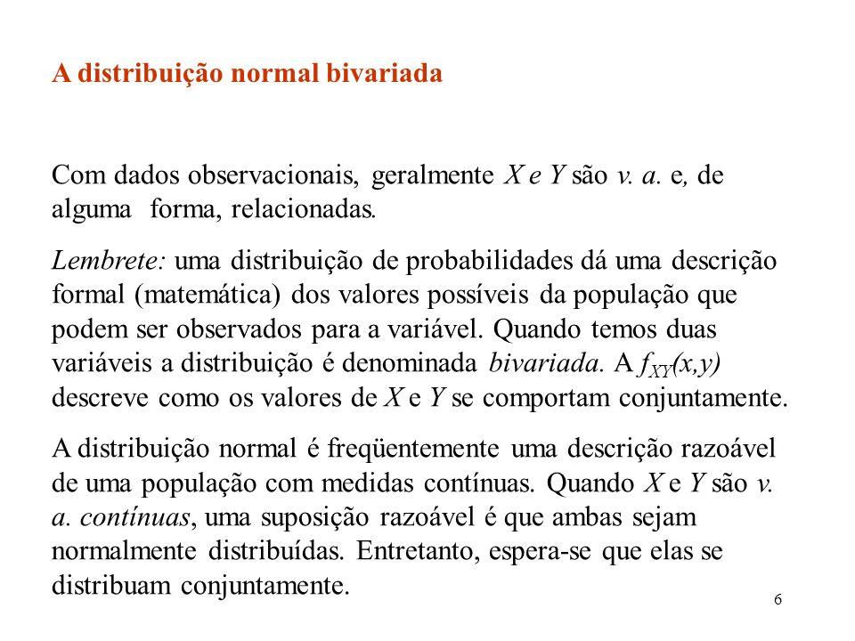 57 Normalidade: a normalidade da distribuição amostral de b 1 segue do fato de que b 1 é uma combinação linear dos Y i.Os Y i são independentes, com distribuição normal.