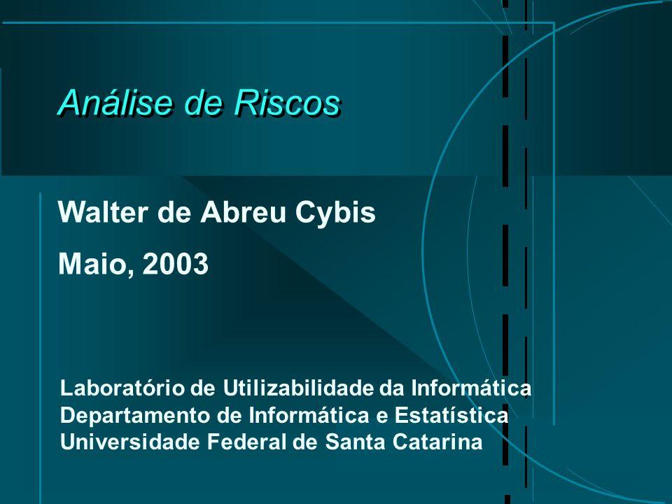Análise de Riscos Walter de Abreu Cybis Maio, 2003 Laboratório de Utilizabilidade da Informática Departamento de Informática e Estatística Universidade Federal de Santa Catarina