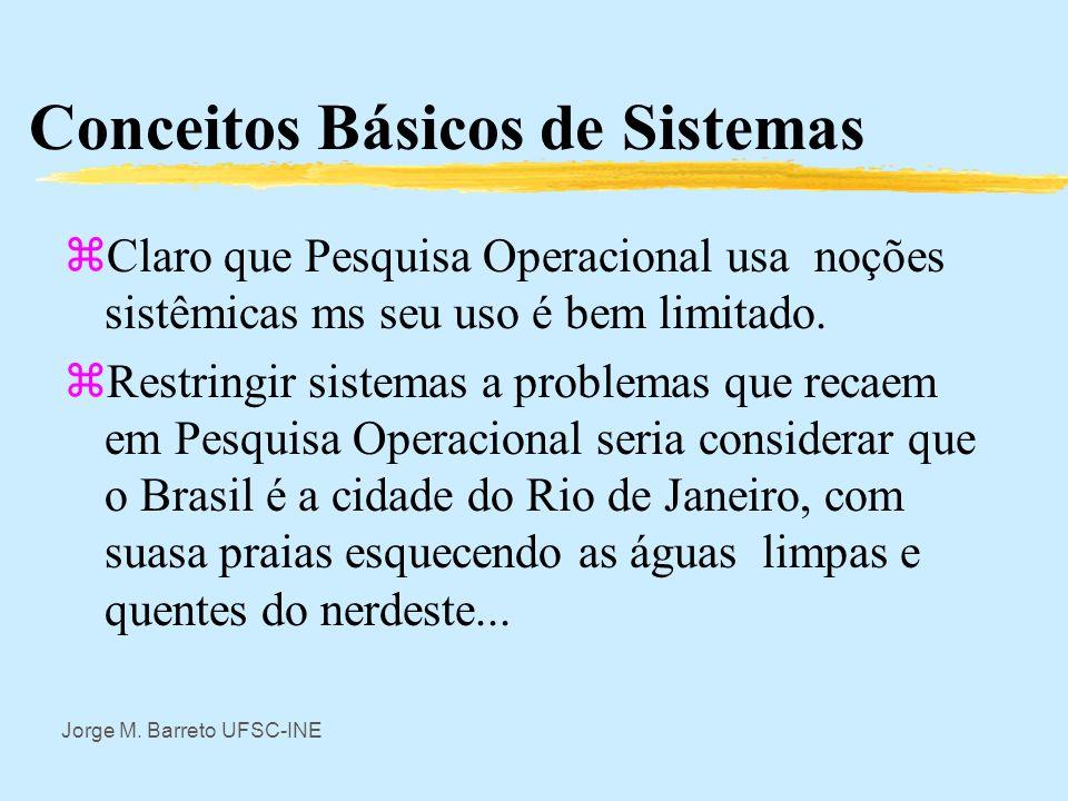 Jorge M. Barreto UFSC-INE Conceitos Básicos de Sistemas zClaro que em administração trabalha-se com sistemas administrativos e a noção sistêmica é de