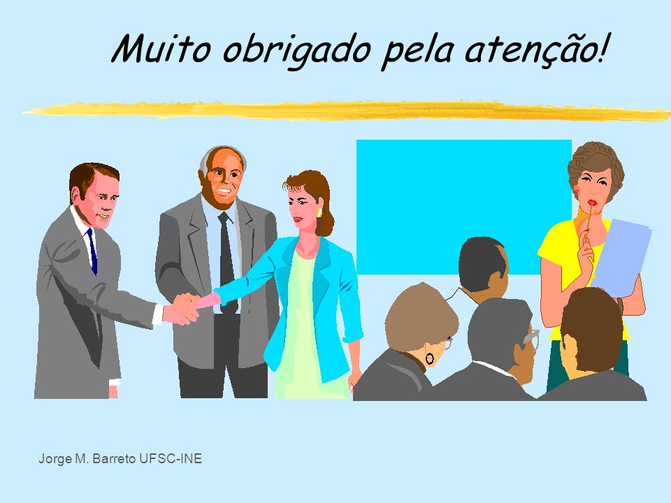 Jorge M. Barreto UFSC-INE Aplicação zO modelo de automato permite estudar problemas de navegação na hipermidia. zUm estudo interessante é associar cam
