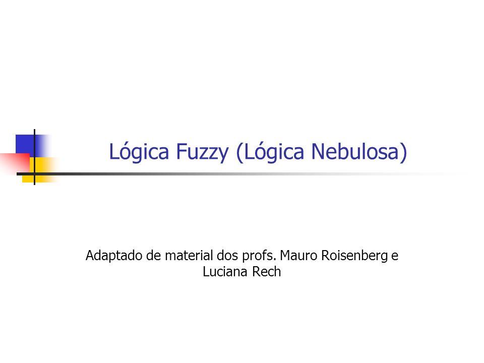 Lógica Fuzzy (Lógica Nebulosa) Adaptado de material dos profs. Mauro Roisenberg e Luciana Rech