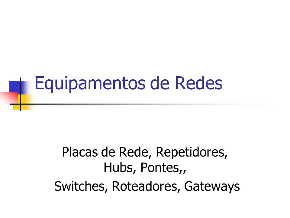 Hub Regrad de Segmentação para Redes Ethernet: 10 Mbps, 100 Mbps, 1000Mbps Limite de Conexões - Hubs operando a 10 Mbps.