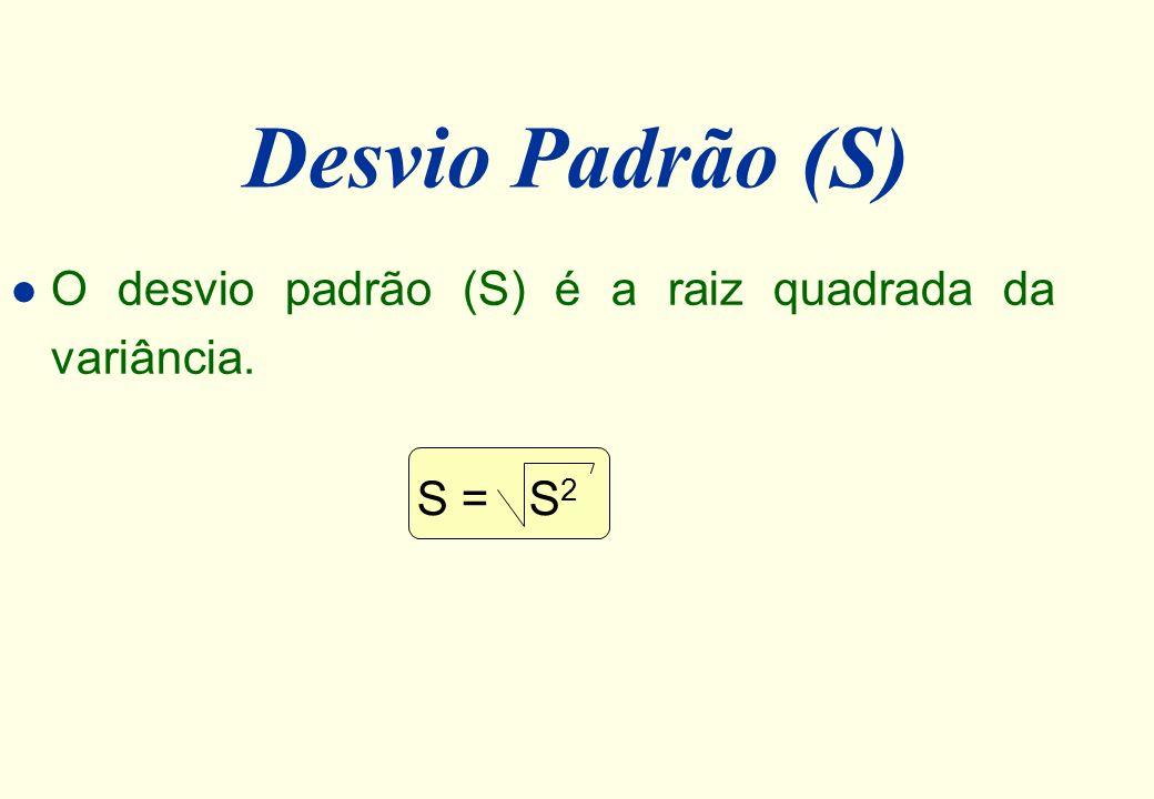 Exemplo l No exemplo apresentado (algoritmo A), a variância é: S 2 = 7 12 = 1,71