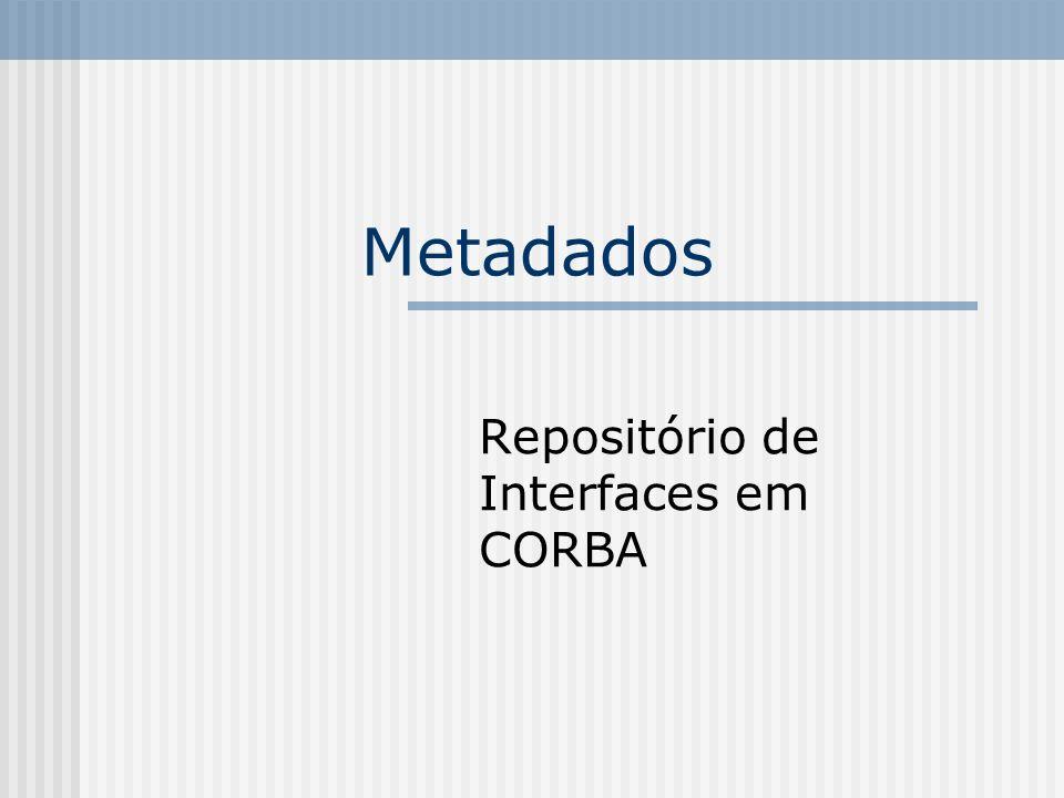Metadados Repositório de Interfaces em CORBA