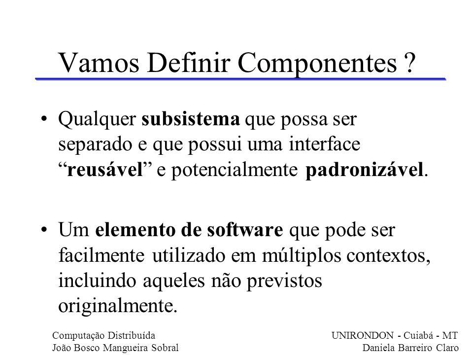 Vamos definir componentes .