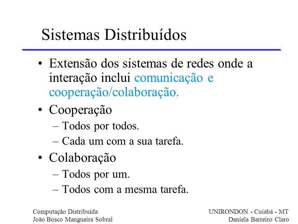 Extensão dos sistemas de redes onde a interação inclui comunicação e cooperação/colaboração. Cooperação –Todos por todos. –Cada um com a sua tarefa. C