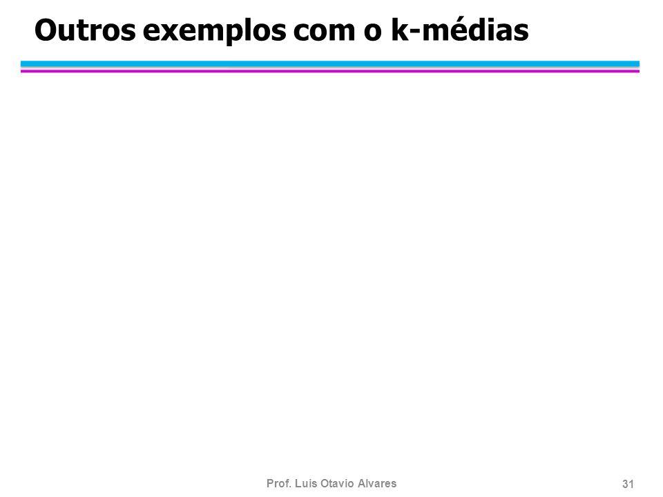Prof. Luis Otavio Alvares 31 Outros exemplos com o k-médias